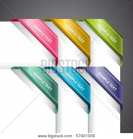 Colourful  Corner Labels