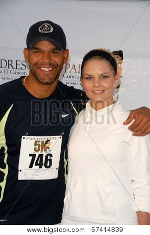 Amaury Nolasco and Jennifer Morrison at the Padres Contra El Cancer Annual Stand for Hope 5K Run Walk, Rose Bowl, Pasadena, CA. 06-26-10