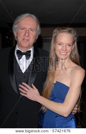 James Cameron and Suzy Amis at the 62nd Annual DGA Awards - Arrivals, Hyatt Regency Century Plaza Hotel, Century City, CA. 01-30-10