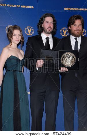 Anna Kendrick, Jason Reitman, Jason Bateman at the 62nd Annual DGA Awards - Press Room, Hyatt Regency Century Plaza Hotel, Century City, CA. 01-30-10