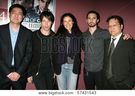 Edwin Santos, Vincent Vieluf, Mimi Rogers,Milo Ventimiglia and Gregory Hatanaka at the
