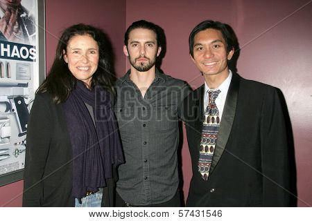 Mimi Rogers, Milo Ventimiglia and Tony Young at the
