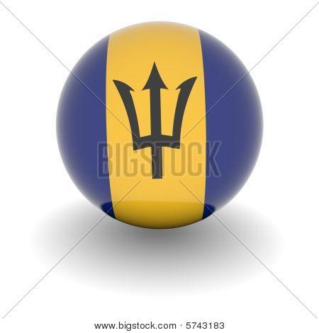 High Resolution Ball With Flag Of Barbados