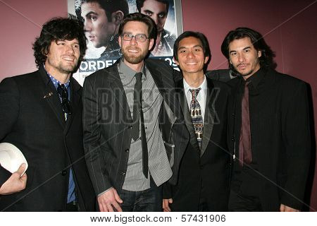 Bret Roberts, James Avallone, Tony Young and James Duval at the