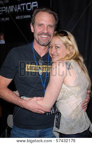 Michael Biehn and Jennifer Blanc-Biehn at the Hollywood Collectors Show, Burbank Airport Marriott Hotel & Convention Center, Burbank, CA. 02-13-10