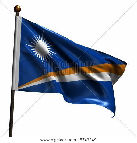 High Resolution Flag Of The Marshall Islands