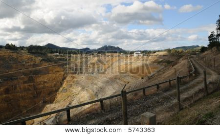 An Old Exhausted Gold Mine
