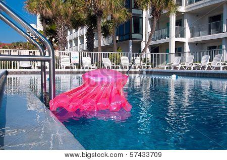 Pool And Pink Air Mattress