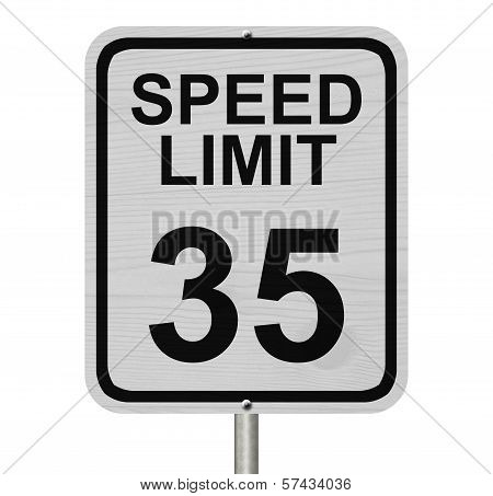 Speed Limit 35 Sign