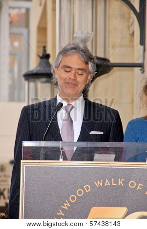 Andrea Bocelli at the induction ceremony for Andrea Bocelli into the Hollywood Walk of Fame, Hollywood, CA. 03-02-10