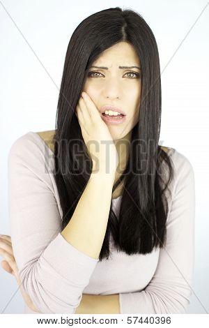 Sad Sexy Woman Suffering Teeth Problem