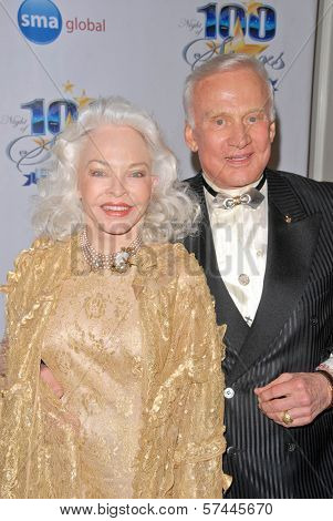 Buzz Aldrin and wife Lois at the 2010 Night of 100 Stars Oscar Viewing Party, Beverly Hills Hotel, Beverly Hills, CA. 03-07-10