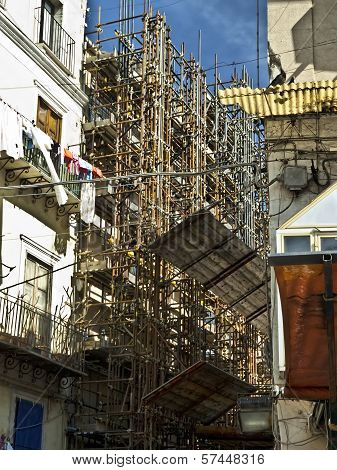 Exterior With Scaffold