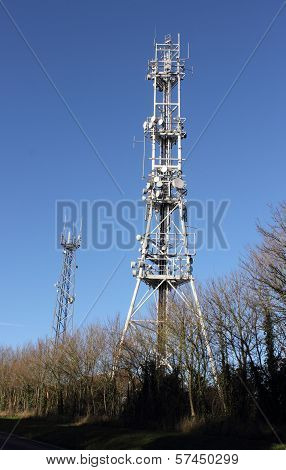 A communications tower