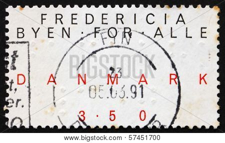 Postage Stamp Denmark 1990 Fredericia, The Town For Everybody