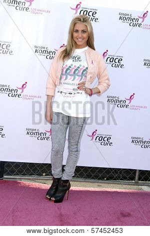 Cassie Scerbo  at the 14th Annual Susan G. Komen LA County Race for the Cure, Dodger Stadium, Los Angeles, CA. 03-14-10