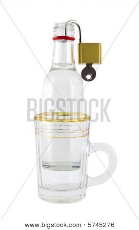 Bottle In Glass