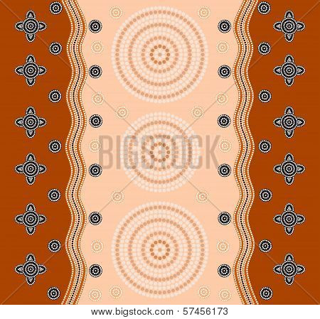 An Illustration Based On Aboriginal Style Of Dot Painting Depicting A Pattern