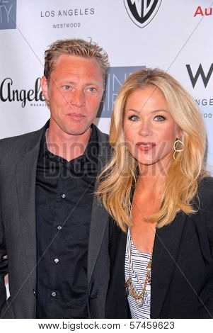Martyne Lenoble and Christina Applegate at the Geffen Playhouses Annual Fundraiser