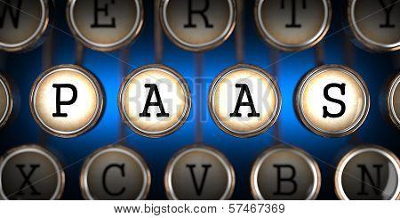 PAAS on Old Typewriter's Keys.