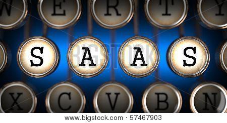 SAAS on Old Typewriter's Keys.