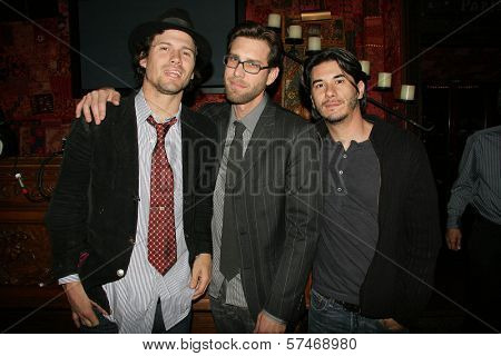 Bret Roberts and James Avallone and James Duval at the Playback Wrap Party, House of Blues, West Hollywood, CA. 04-04-10