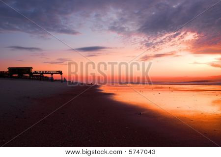 Beach House at Sunrise