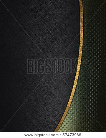 Black background with abstract green texture