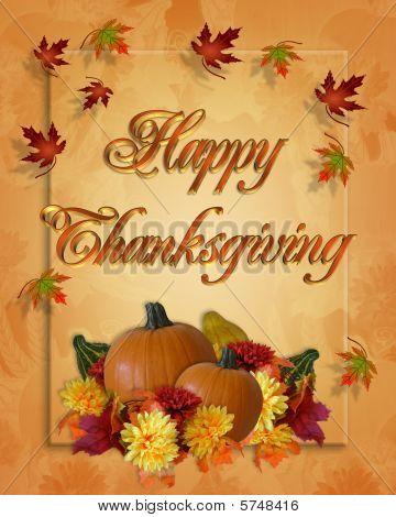 Thanksgiving Autumn Fall card