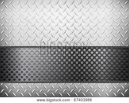 Diamond Metal Background And Grid