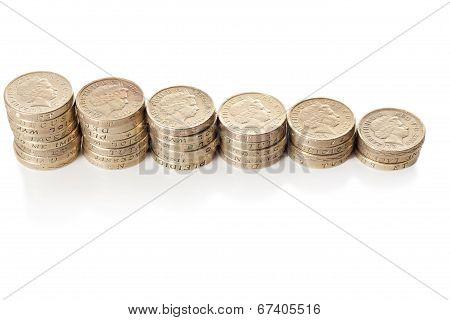 British Coins Stack