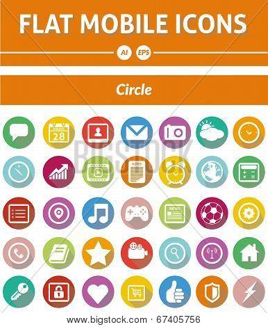 Flat Mobile Icons - Circle Version