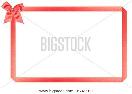 Red Holiday Frame, Perfectly Isolated On White Background (very Easy To Cut Out)