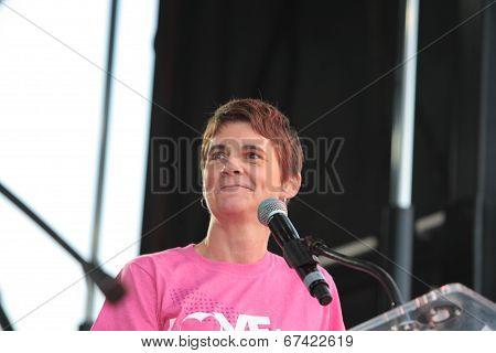 Rea Carey Addresses Audience
