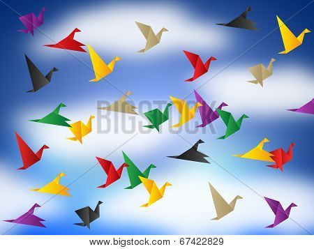 Flying Birds Means Break Out And Elude