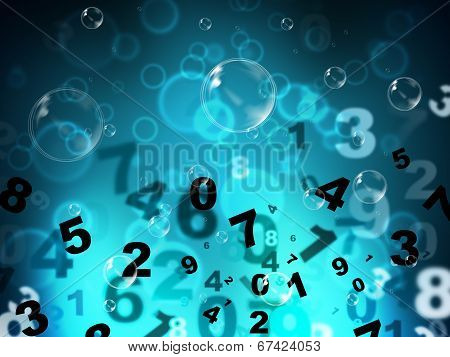 Numbers Mathematics Shows High Tec And Numerical