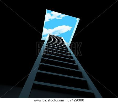Escape Ladder Means Being Free And Climbing