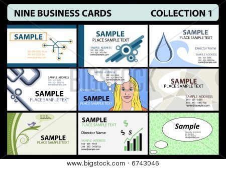 Nine business cards collection 1