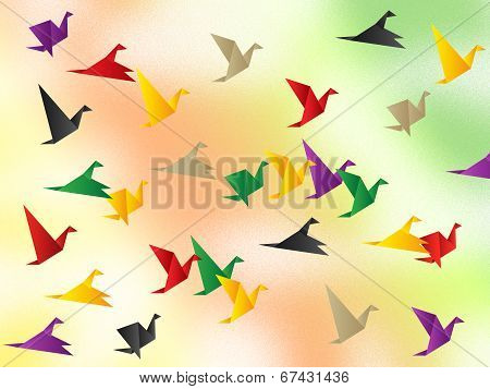 Freedom Flying Shows Flock Of Birds And Escaped