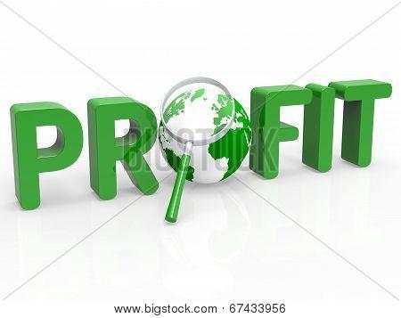 Magnifier Profit Means Profits Search And Profitable