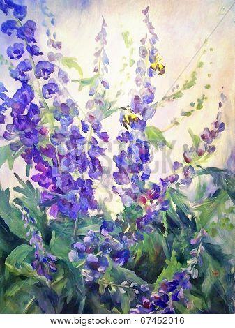 Flowers Oil Digital Painting