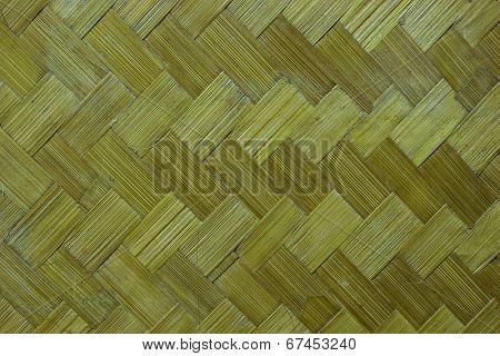 Native Thai Style Bamboo Wall.