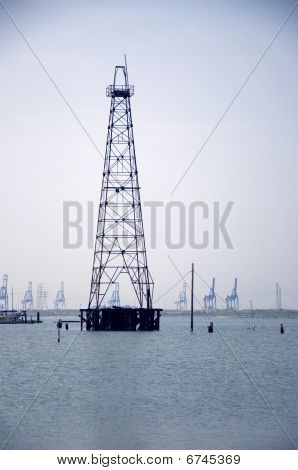 Old Derrick In The Bay