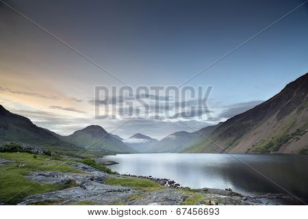 Wastwater Lake In The Lake District, Cumbria, England