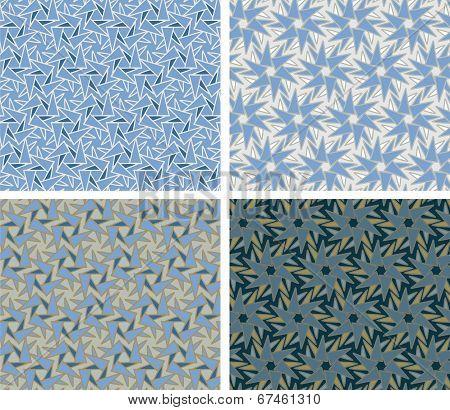 Stars - seamless patterns
