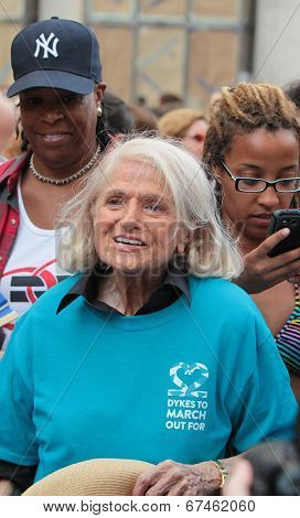 Edie Windsor marches