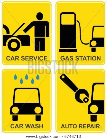 Car service, fuel station, auto repair