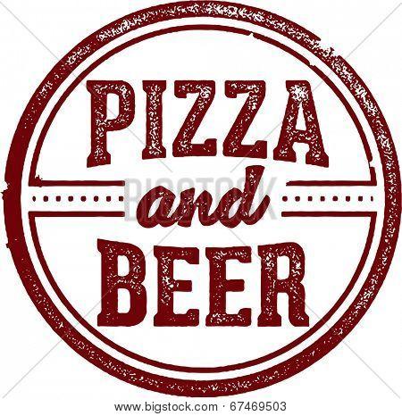 Pizza and Beer Menu Stamp