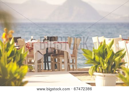 Greek Tavern By The Sea, Kos, Greece