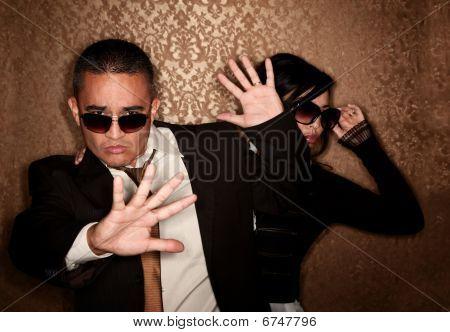 Hispanic Couple Caught By Photographer